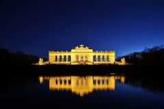 Gloriette Vienna At Night Stock Photos