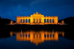 Gloriette, Vienna. Gloriette, Schonbrunn Palace, Wien, at dusk before the storm Royalty Free Stock Images