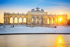 Gloriette at winter Royalty Free Stock Images