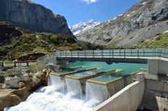 Gloriettes水坝在法国比利牛斯 库存图片