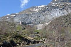 Gloriettes水坝在法国比利牛斯 库存照片