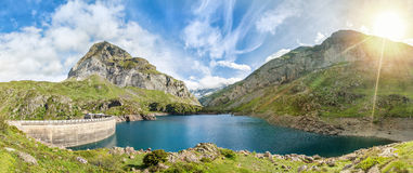Gloriettes lake, Hautes-Pyrenees, France Royalty Free Stock Photography