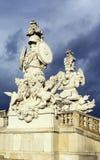 Gloriette在Schonbrunn,维也纳 免版税库存照片
