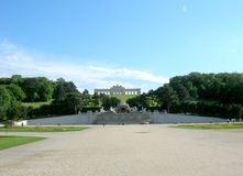 Gloriety struktura w Schonbrunn pałac Fotografia Royalty Free