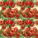 Gloriosa. Flowers and leaves.Batik.  Seamless pattern.  Wallpaper. Stock Photography