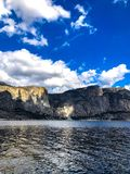 Glorious Blue Sky in Hetch Hetchy. The glory of the sky was captured at Hetch Hetchy in Yosemite National Park Royalty Free Stock Images