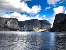 Glorious Blue Sky in Hetch Hetchy Landscape. This landscape photo of the glory of the sky was captured at Hetch Hetchy in Yosemite National Park Royalty Free Stock Photography