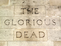 'The Glorious Dead' the Cenotaph Royalty Free Stock Image