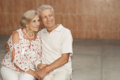 Glorious elderly couple decided to walk Royalty Free Stock Photo