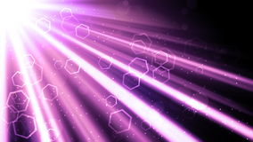 Glorious Light Rays and Hexagons Royalty Free Stock Image