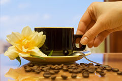 Glorious morning with a delicious coffee Royalty Free Stock Photo