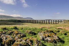 Glorious Morning at Ribblehead Viaduct stock photos