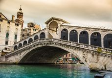 Glorious Rialto bridge in Venice Royalty Free Stock Photography