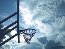 Glorious Sport. Dreamy hoop Royalty Free Stock Image