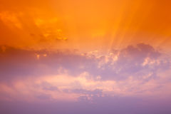 Glorious sunset. Glorious sunburst through the dust cloud stock images