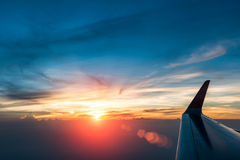 Glorious sunset in the air Stock Photography