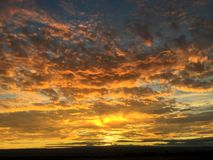 Glorious sunset!. Glorious sunset in the foothills of Albuquerque New Mexico stock photos