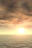Glorious Sunset over Sea. A cloudy Sunset over Sea Royalty Free Stock Image