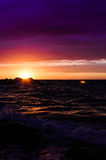 Glorious Sunset Over The Sea Stock Photography