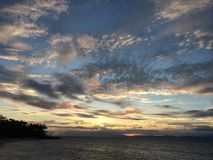 Glorious Sunset, Panglao Island, Bohol, Philippines Royalty Free Stock Image