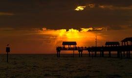 Glorious sunset at Pier. 60 Clearwater Florida Stock Photos
