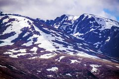 View of the Ben Nevis Range at Fort William in the Highlands of Scotland royalty free stock images