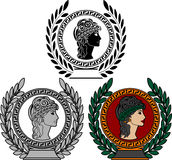Glory of ancient greek woman. Vector illustration Stock Photography