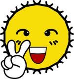 Glory Cheerful con il sole giallo sorridente del fronte royalty illustrazione gratis