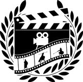Glory of cinema. Vector illustration Stock Images