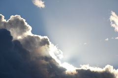 Glory Light in Clouds Stock Image