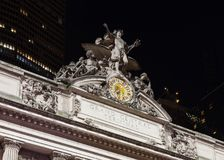 The Glory of Commerce sculpture adorns Grand Central Station. The Glory of Commerce sculpture adorns the exterior of Grand Central Station, New York City Royalty Free Stock Photography