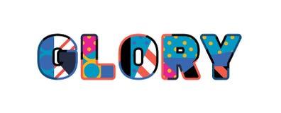 Glory Concept Word Art Illustration stock illustrationer