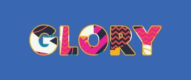 Glory Concept Word Art Illustration royaltyfri illustrationer