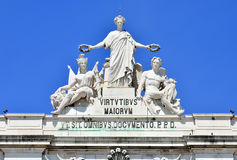 The Glory, detail of Rua Augusta Arch, Lisbon Royalty Free Stock Photos