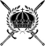 Glory of empire. Stencil. vector illustration Royalty Free Stock Photography
