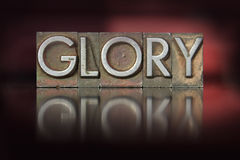Glory Letterpress Stock Photo