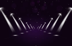 Glory Path with Spotlights. Glory path background with spotlights for active events vector illustration