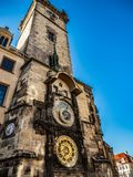 The glory of Prague Astronomical Clock stock photography