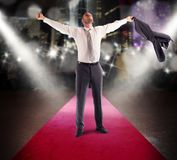 Glory of a successful man Royalty Free Stock Image