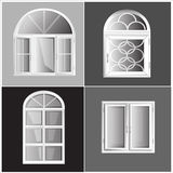 Διανυσματικά παράθυρα πλαστικό Glosed Στοκ Εικόνα