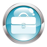 Gloss Button with Briefcase Stock Image