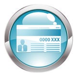 Gloss Button with Credit Card Stock Photo