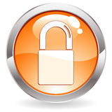 Gloss Button with Lock Stock Photo
