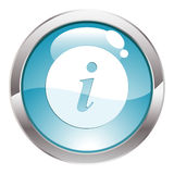 Gloss Button with sign Info Stock Images