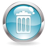 Gloss Button with Trash Royalty Free Stock Image