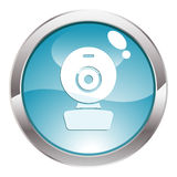 Gloss Button with web cam Royalty Free Stock Image