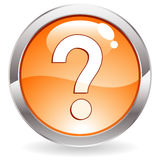 Gloss Button With Question Mark Royalty Free Stock Image