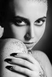 Gloss makeup monochrome Stock Photography
