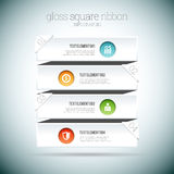 Gloss Square Ribbon Infographic Royalty Free Stock Photos