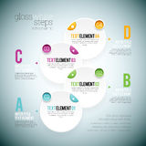 Gloss White Step Infographic Stock Images